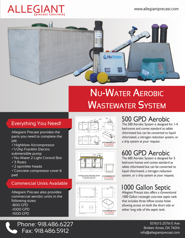 Allegiant Aerobic Basic Info Flyer v4 allegiant precast aerobic system nuwater 500 NuWater Nr 500 at reclaimingppi.co