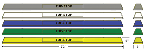 Parking Bumpers Tuf-Stop Plastic Lined Concrete