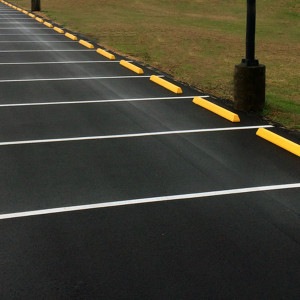 Plastic Lined Concrete Parking Bumpers