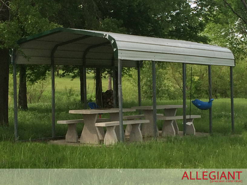 Allegiant Precast Concrete Picnic Table With Benches